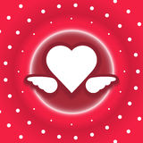 Heart dots explode vector. Background Royalty Free Stock Photography