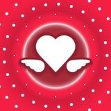 Heart dots explode vector. Background Stock Illustration