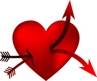 Heart and double arrow Stock Photo