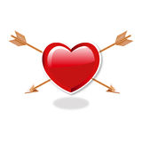 Heart And double Arrows. Vector for Use Royalty Free Stock Photography
