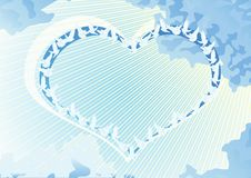 Heart and doves Royalty Free Stock Images