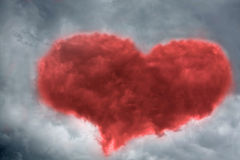 Heart in dramatic stormy sky Royalty Free Stock Image
