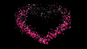 Heart Draw with Alpha Channel Valentine's Day. Valentine heart with alpha channel stock video