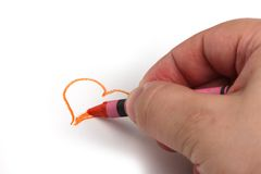 Heart drawing Stock Photos