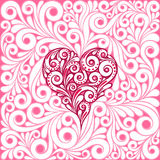 Pattern with heart.. Valentines Day. Heart drawing Royalty Free Stock Photography