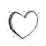 Heart  drawing. Pretty art Stock Photo