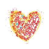 Heart  drawing. Pretty art Royalty Free Stock Photography