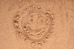Heart drawing in the sand Stock Photography