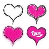 Heart drawing vector illustration Royalty Free Stock Photo