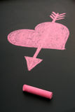 Heart drawn in chalk Royalty Free Stock Photo