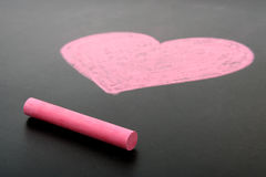 Heart drawn in chalk Royalty Free Stock Images