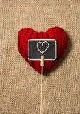 Heart drawn by chalk on decorative chalkboard Royalty Free Stock Image