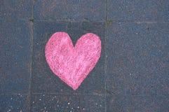 Heart drawn in chalk Stock Photos