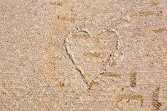 Heart drawn in concrete Royalty Free Stock Photo
