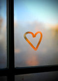 Heart on a window Royalty Free Stock Images