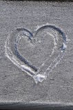 Heart drawn in the frost Royalty Free Stock Photo