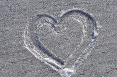 Heart drawn in the frost Royalty Free Stock Images