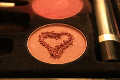 Heart Drawn in Make-up Stock Photos