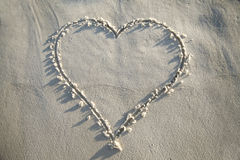 Heart Drawn in Sand Stock Photography