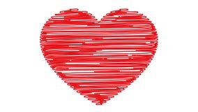 Heart drawn stock video