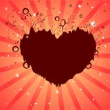 Heart dreams background Stock Photography