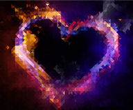 Heart drew by  mosaic Royalty Free Stock Images
