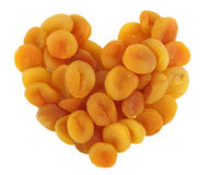 Heart of dried apricots Royalty Free Stock Photos