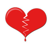 Heart Dripping Blood. Broken Love Heart Dripping Blood vector illustration