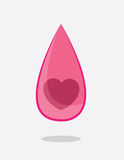 Heart Droplet Royalty Free Stock Image