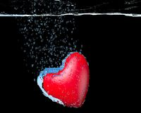 Heart dropped into water Royalty Free Stock Image
