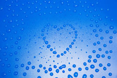 Heart from drops Royalty Free Stock Photography