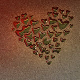 Heart drops Stock Image