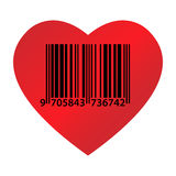 Heart ean code Royalty Free Stock Photography