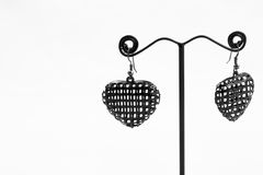 Heart earring Stock Images