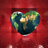 Heart with earth texture Stock Image