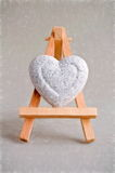 Heart on easel Royalty Free Stock Image