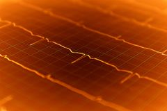 Heart ECG graph on paper Stock Image
