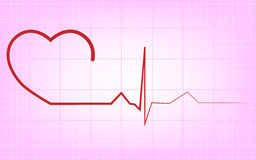 Heart ecg Stock Images