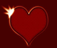 Heart eclipse - love, romance, Valentine concept, metaphor Royalty Free Stock Photos