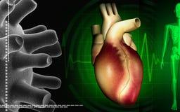 Heart with eco cardio gram pulse Stock Photo