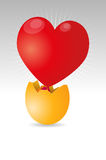 Heart egg Royalty Free Stock Image