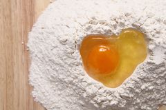 Heart from the egg Royalty Free Stock Photography