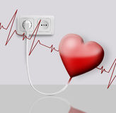 Heart electric Stock Image