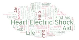 Heart Electric Shock word cloud, made with text only. Heart Electric Shock word cloud, made with text only stock illustration