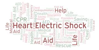 Heart Electric Shock word cloud, made with text only. Heart Electric Shock word cloud, made with text only royalty free illustration
