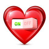 Heart and Electric Switch Royalty Free Stock Photos