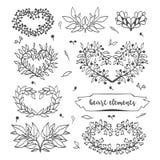 Heart elements. royalty free illustration