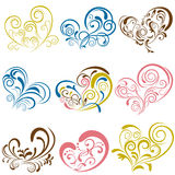 Heart elements set Stock Photos