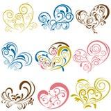 Heart elements set. Illustration Stock Photos