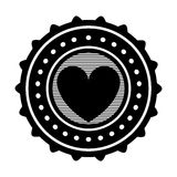 Heart emblem icon image. Vector illustration design stock illustration